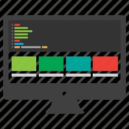 internet, monitor, responsive design, web, web design, website icon