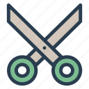 cut, cutter, scissor, stationary icon