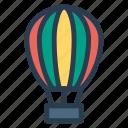 airballoon, amusement, transport, travel icon