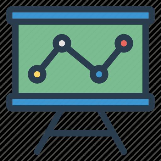 analytic, board, graph, presentation icon