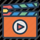 board, cinema, film, play icon