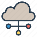 cloud, computing, connect, server icon