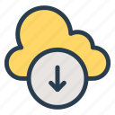 cloud, download, server, storage icon