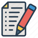 create, document, file, write icon