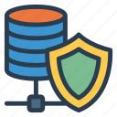 database, protection, security, shield icon