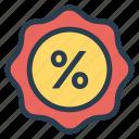 badge, discount, sale, sticker icon