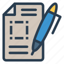 create, document, edit, write icon