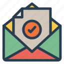 file, mail, message, open icon