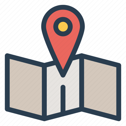 gps, location, map, pointer icon
