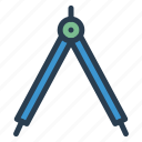 geometry, measure, protractor, tools icon