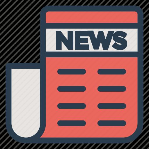 article, news, paper, press icon
