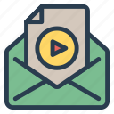 email, message, open, video icon