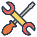 fix, repair, screwdriver, wrench icon