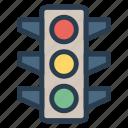 led, lights, signal, traffic icon
