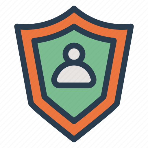 protection, security, shield, user icon