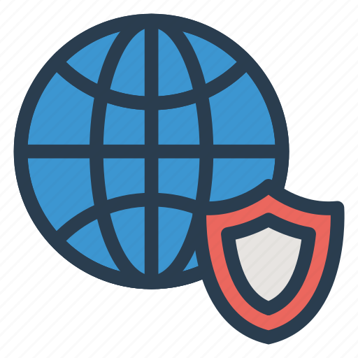 protection, security, shield, world icon