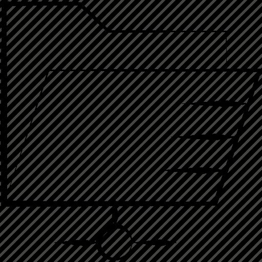 documents, folder, share, shared icon