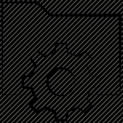 folder, gear, options, preferences, settings icon