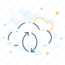 cloud, storage, synchronization icon