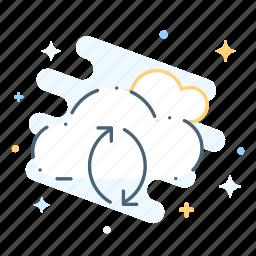 cloud, storage, synchronization icon