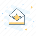 envelope, importance, letter, mail, marketing, star, status icon