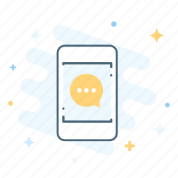 chat, gadget, message, mobile, notification, phone, smartphone icon