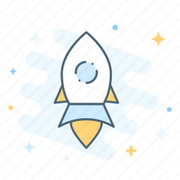 development, launch, rocket, space, startup, takeoff icon