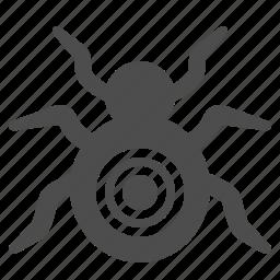 antivirus, bugs, spider, target, virus, web spider icon