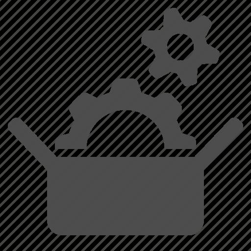 box, cog, gear, seo, tool, tools icon