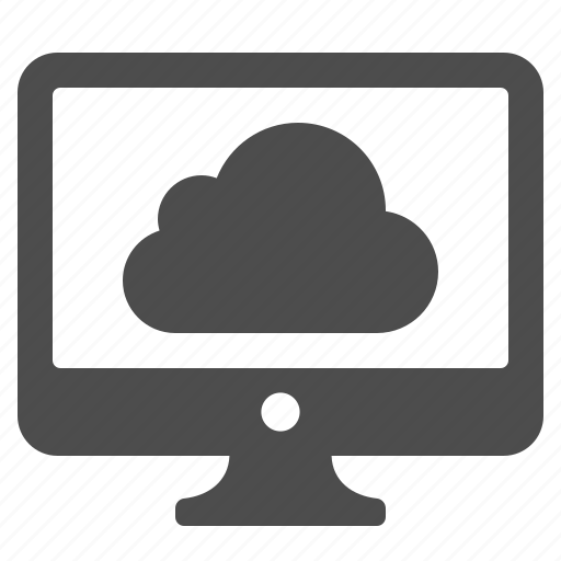 cloud, cloud computing, computer, screen, weather icon