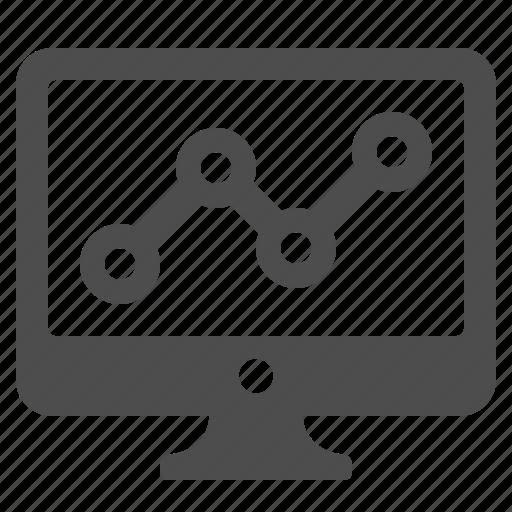 computer, graph, monitor, seo, stats icon