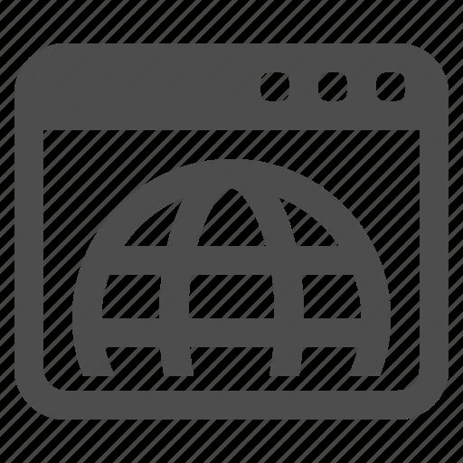 browser, globe, network, web, web page, webpage icon