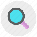 loupe, multimedia, search, zoom icon icon
