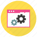 configuration, page, setting, settings, web, wrench icon icon icon