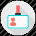card, id, male, man, person, profile icon icon