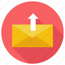mail, unarchieve, upload icon icon