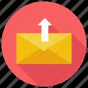 mail, unarchieve, upload icon icon