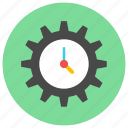 cog, gear, time, time management icon icon