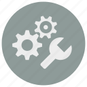 cog, edit, gear, optimization, optimize, setting, wrench icon