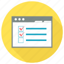 checklist, checkmark, clipboard, document, list, tracklist icon icon