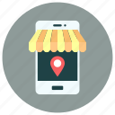 location, marker, mobile, navigation, navigator, phone, smartphone icon icon