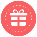 gift, gift box, present, present box, wrapped gift icon icon