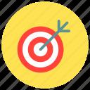 archery, bullseye, goal, target icon icon