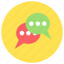 chatting, internet, messages, social media, weechat icon icon