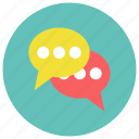 chat, chatting, comment, dialogue, message icon icon