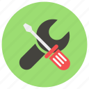 maintenance, screwdriver, screwdriver and wrench, settings, wrench, wrench and screwdriver icon icon