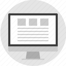 frame, layout, pc, photos, three, top, website icon