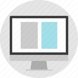 column, frame, layout, net, pc, two, website icon