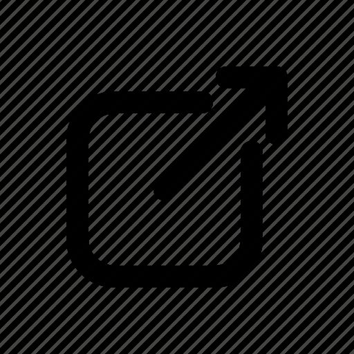 box, share, social media icon