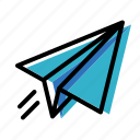 message, paper plane, telegram icon